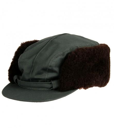 Čepice s pravou kožešinou - Twill