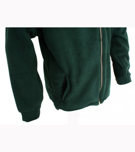 Bunda Fleece, dlouhý zip, raglánový rukáv